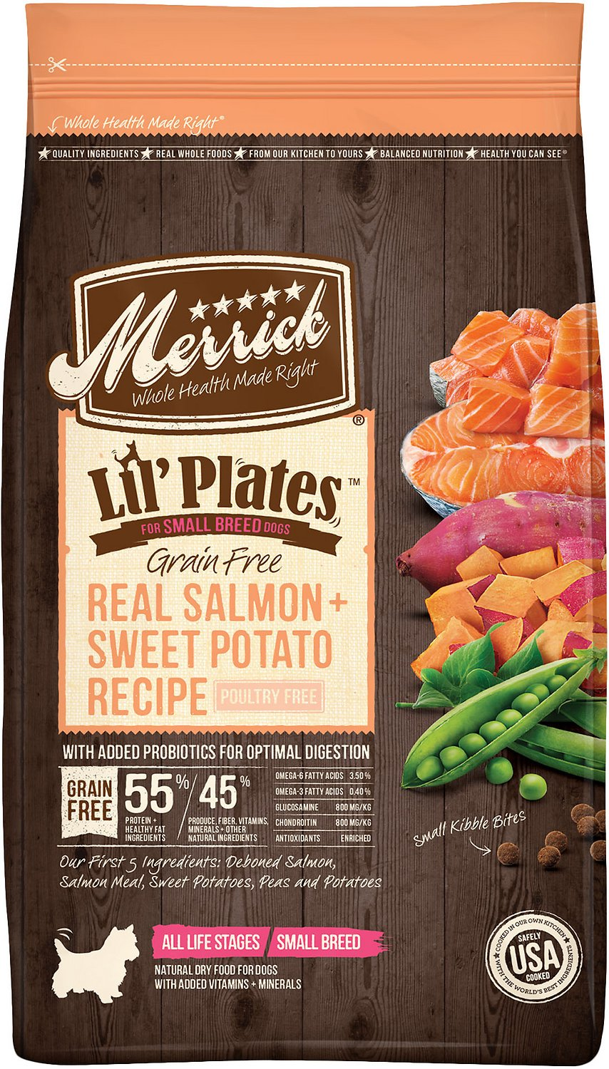 Merrick Lil' Plates Grain-Free Real Salmon & Sweet Potato Dry Dog Food Image