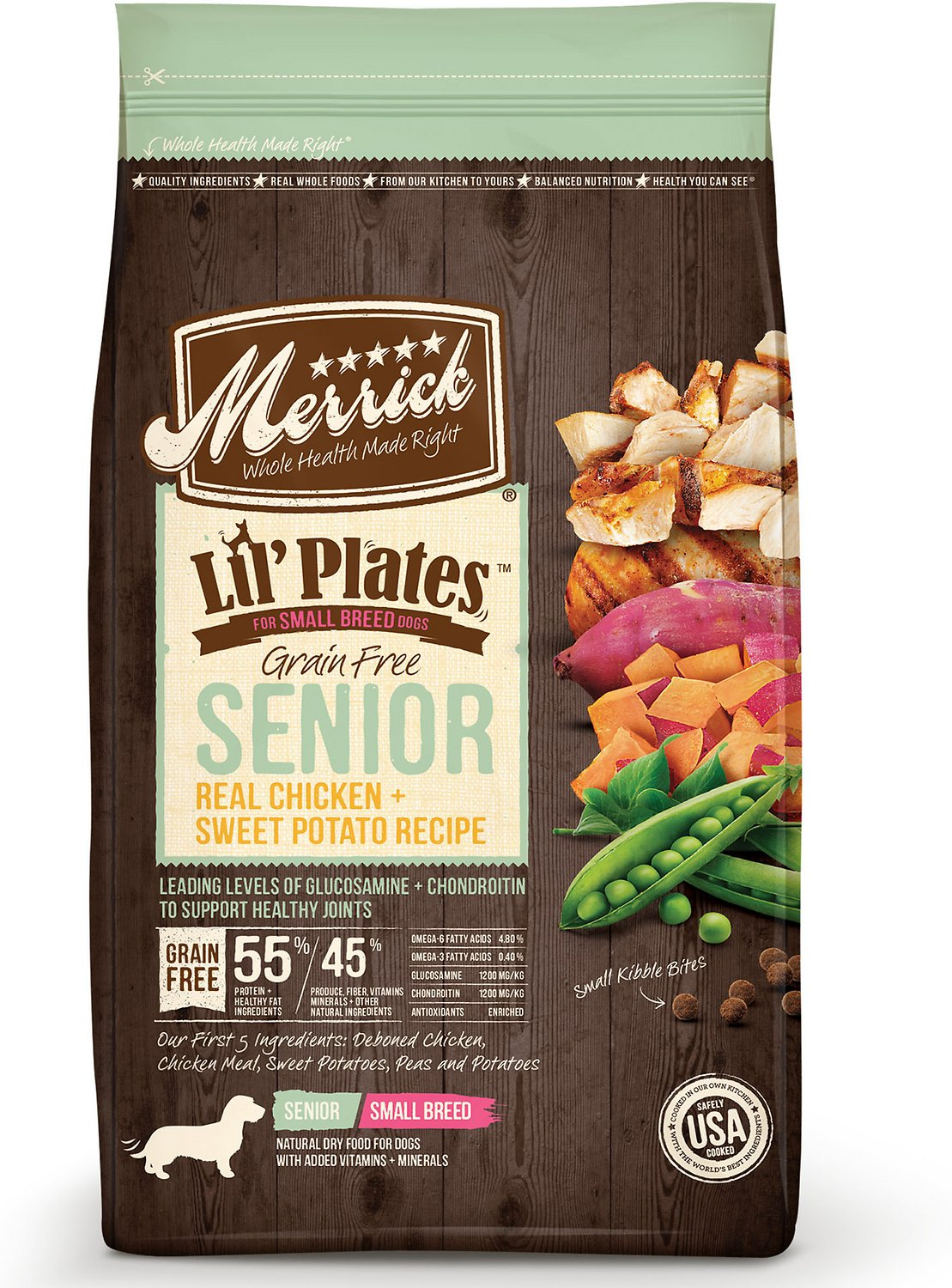 Merrick Lil' Plates Grain-Free Real Chicken & Sweet Potato Senior Small Breed Dry Dog Food Image