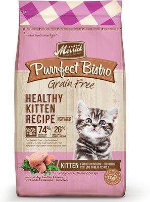 Merrick Purrfect Bistro Grain-Free Healthy Kitten Recipe Dry Cat Food, 4-lb bag