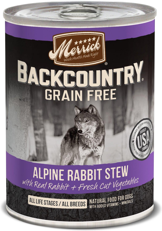 Merrick Backcountry Grain-Free Alpine Rabbit Stew Canned Dog Food, 12.7-oz