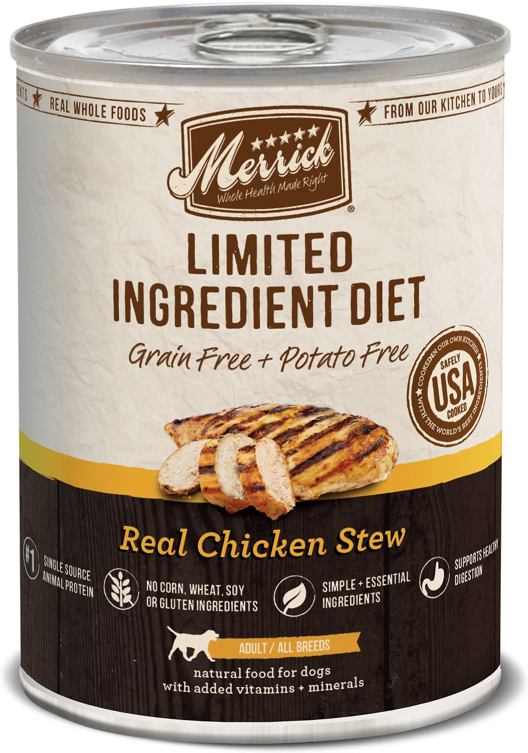 Merrick Limited Ingredient Diet Grain-Free Real Chicken Stew Canned Dog Food Image
