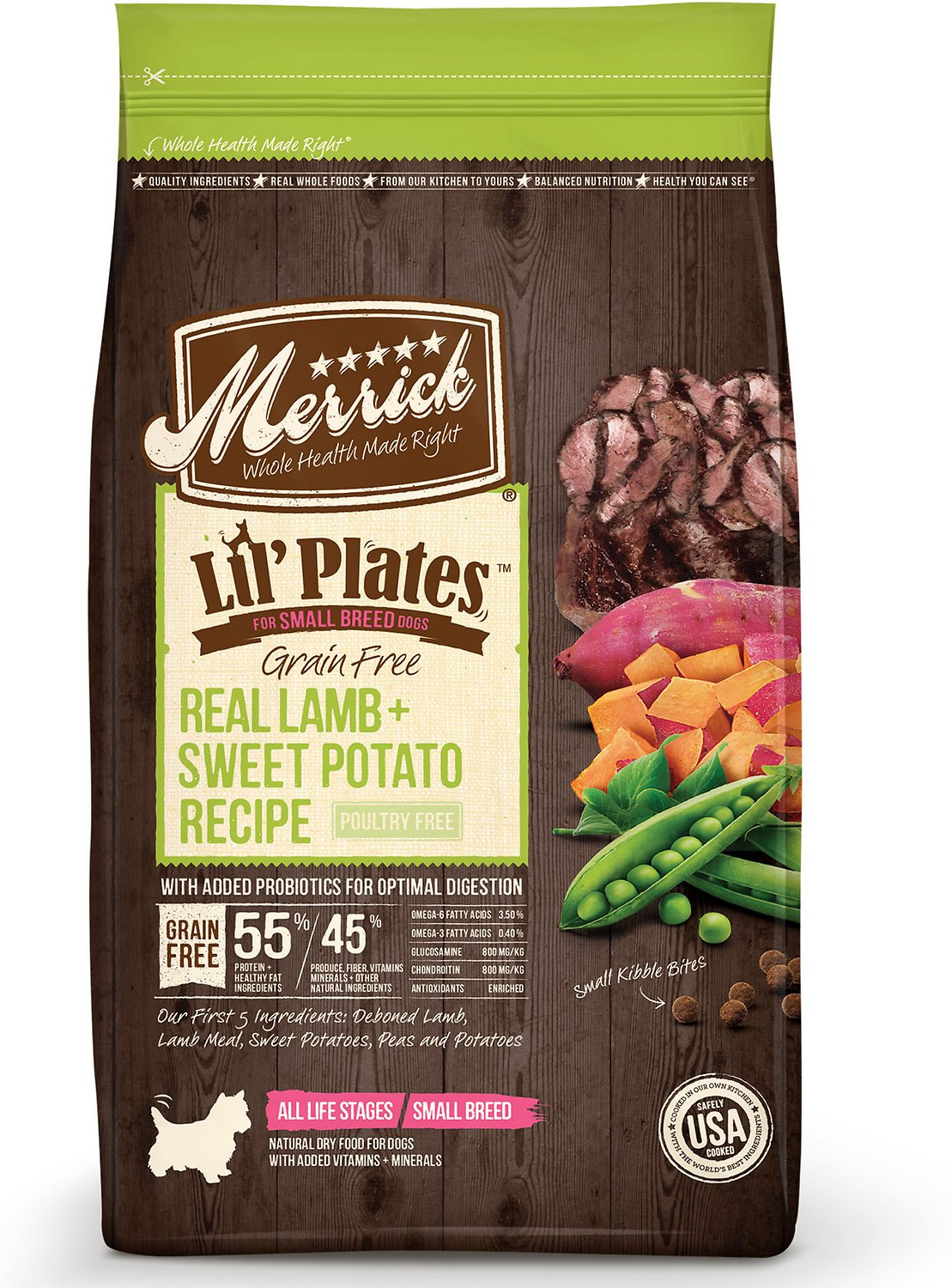 Merrick Lil' Plates Grain-Free Real Lamb & Sweet Potato Dry Dog Food Image