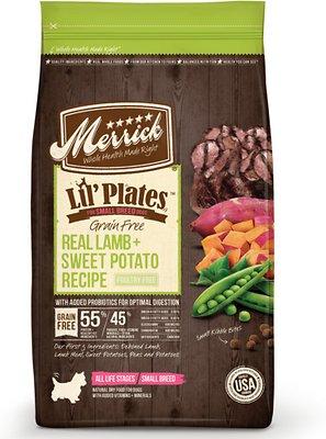 Merrick Lil' Plates Grain-Free Real Lamb & Sweet Potato Dry Dog Food, 4-lb bag