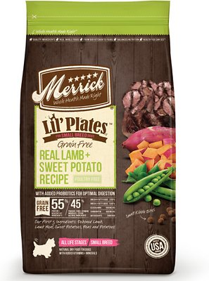 Merrick Lil' Plates Grain-Free Real Lamb & Sweet Potato Dry Dog Food, 12-lb bag