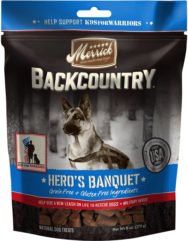 Merrick Backcountry Hero's Banquet Grain-Free Dog Treats, 6-oz bag (Weights: 6ounces) Image