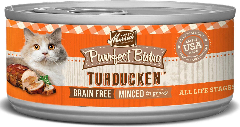 Merrick Purrfect Bistro Grain-Free Turducken Minced in Gravy Canned Cat Food, 5.5-oz