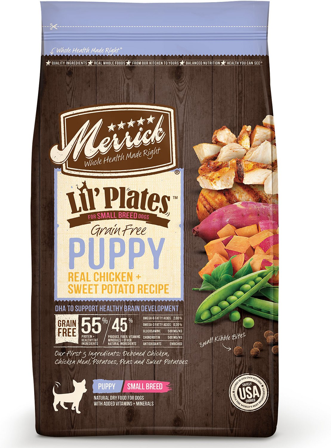 Merrick Lil' Plates Grain-Free Real Chicken & Sweet Potato Puppy Small Breed Dry Dog Food Image