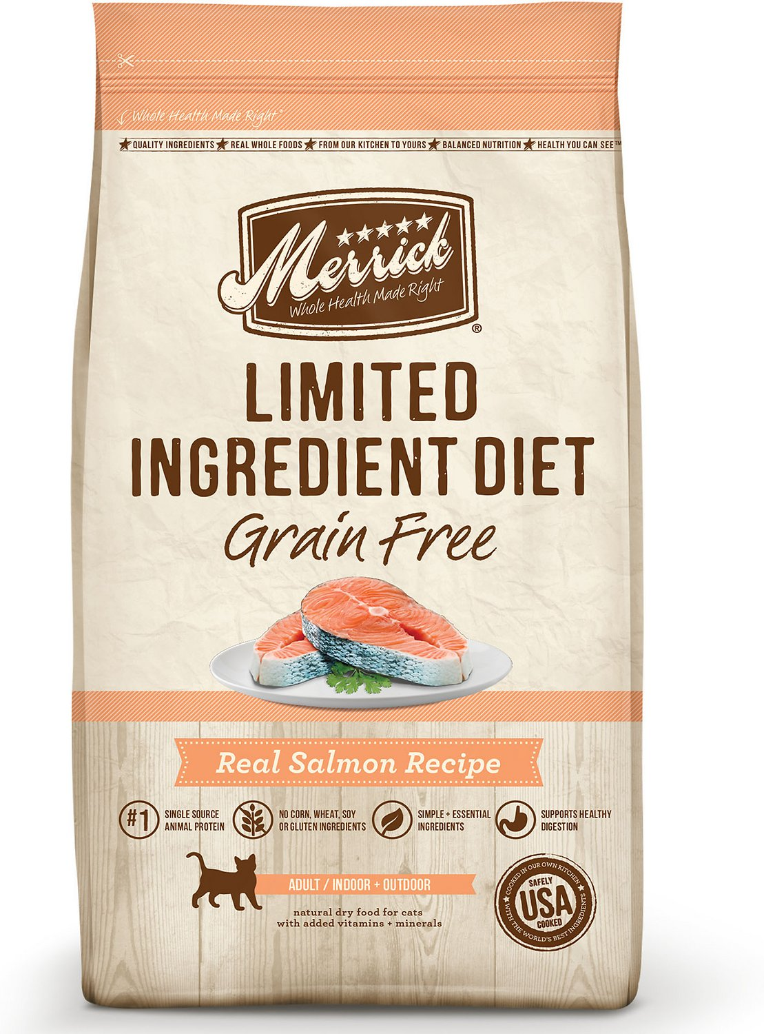 Merrick Limited Ingredient Diet Grain-Free Real Salmon Recipe Dry Cat Food Image