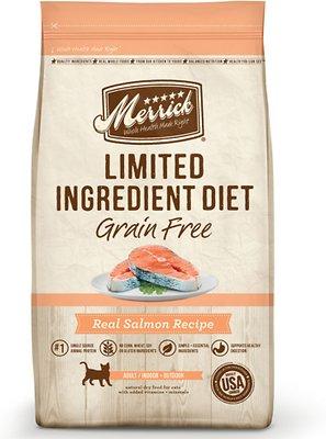 Merrick Limited Ingredient Diet Grain-Free Real Salmon Recipe Dry Cat Food, 4-lb bag