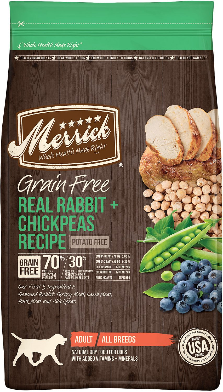 Merrick Grain-Free Real Rabbit + Chickpeas Recipe Dry Dog Food Image