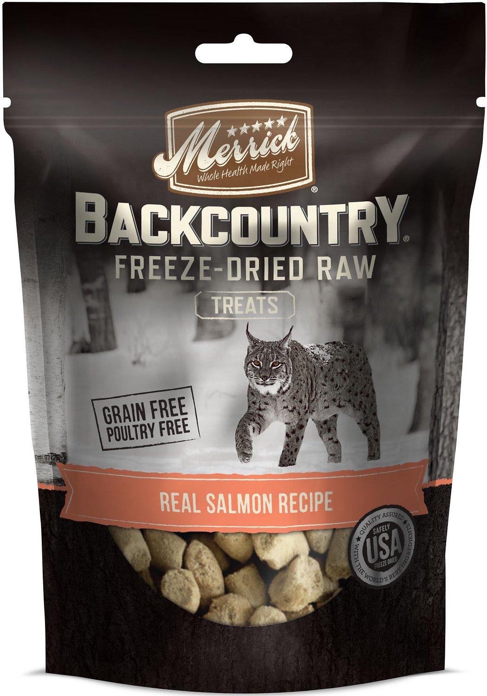 Merrick Backcountry Grain-Free Real Salmon Recipe Freeze-Dried Raw Cat Treats, 1-oz bag