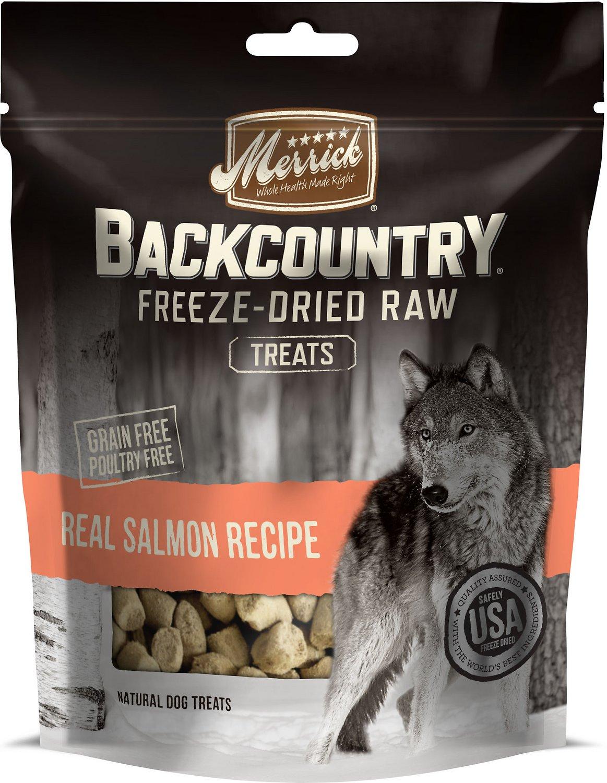 Merrick Backcountry Freeze-Dried Raw Real Salmon Recipe Dog Treats, 3.25-oz bag
