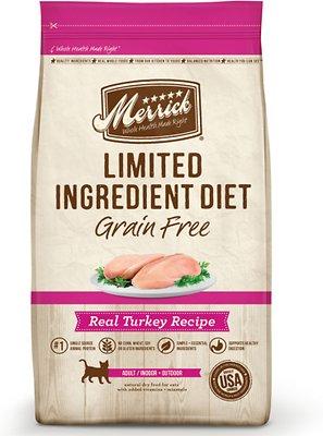Merrick Limited Ingredient Diet Grain-Free Real Turkey Recipe Dry Cat Food, 4-lb bag