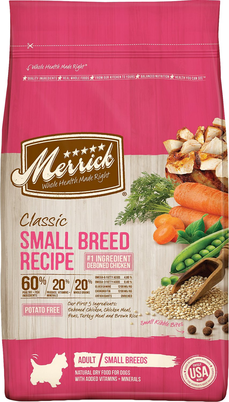 Merrick Classic Small Breed Recipe Adult Dry Dog Food, 4-lb bag