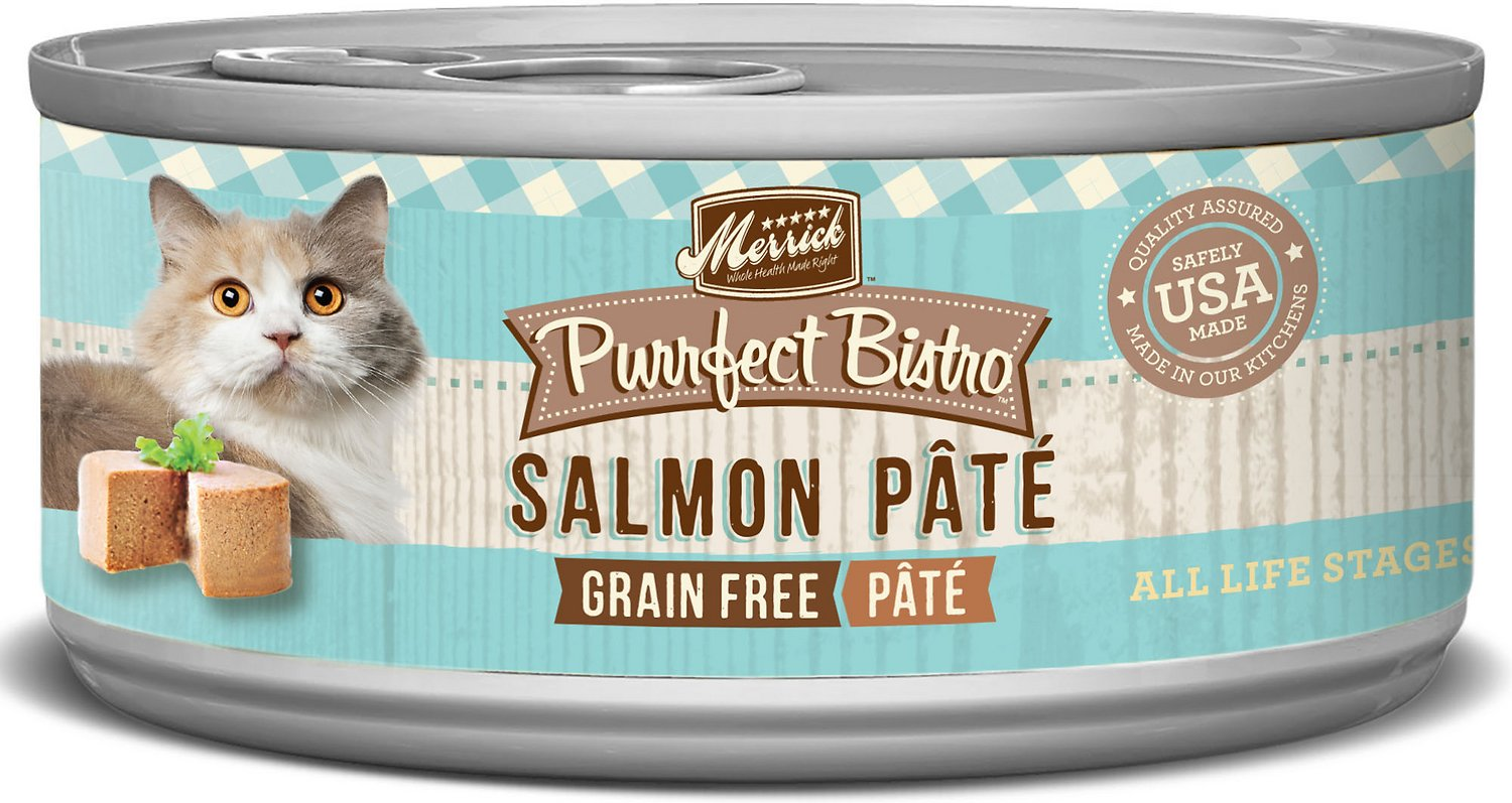 Merrick Purrfect Bistro Grain-Free Salmon Pate Canned Cat Food, 5.5-oz