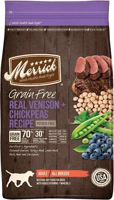 Merrick Grain-Free Real Venison + Chickpeas Recipe Dry Dog Food, 22-lb bag