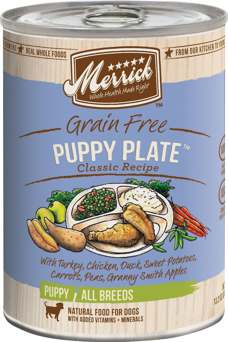 Merrick Grain-Free Puppy Plate Recipe Canned Dog Food Image