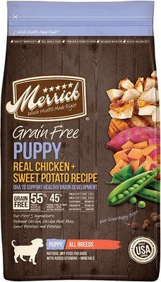 Merrick Grain-Free Puppy Real Chicken & Sweet Potato Recipe Dry Dog Food, 4-lb bag (original)