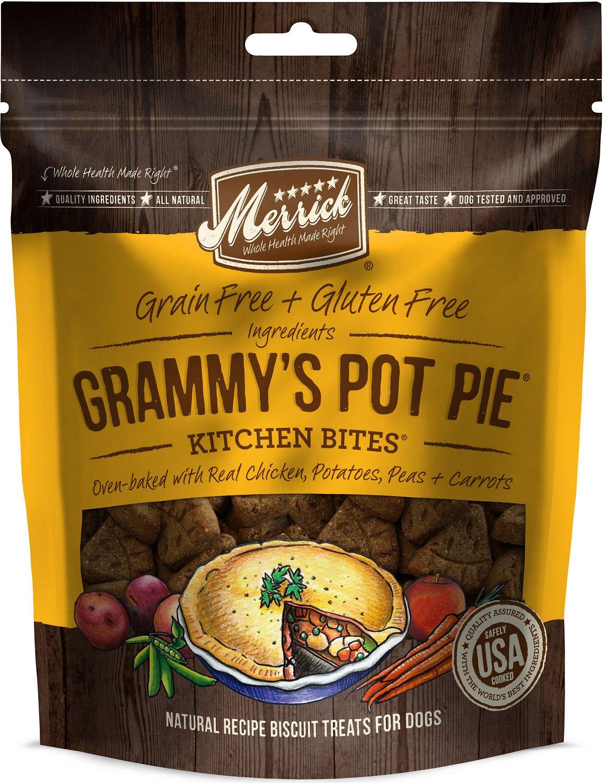 Merrick Kitchen Bites Grammy's Pot Pie Grain-Free Biscuits Dog Treats, 9-oz bag