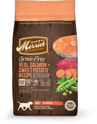 Merrick Grain-Free Real Salmon & Sweet Potato Recipe Adult Dry Dog Food, 22-lb bag