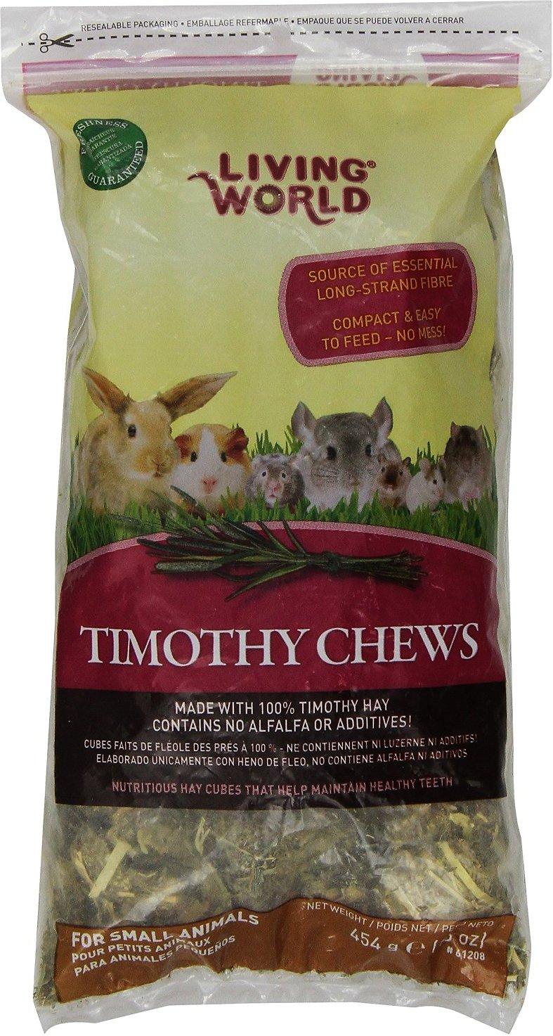 Living World Timothy Hay Small Animal Chews, 16-oz bag Image