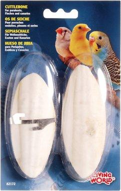 Living World Cuttlebone Bird Treat, Small, 2-count