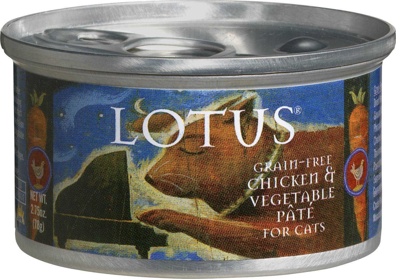 Lotus Chicken & Vegetable Pate Grain-Free Canned Cat Food, 5.5-oz