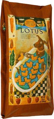 Lotus Wholesome Duck Recipe Grain-Free Dry Dog Food, 20-lb bag