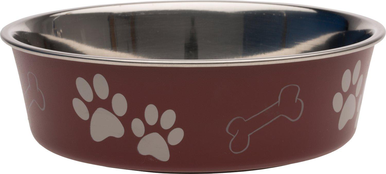 Loving Pets Bella Bowls Pet Bowl, Merlot Image