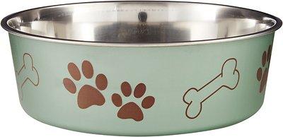 Loving Pets Bella Bowls Pet Bowl, Metallic Artichoke, X-Large