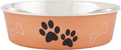 Loving Pets Bella Bowls Pet Bowl, Metallic Copper, Large