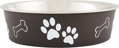 Loving Pets Bella Bowls Pet Bowl, Espresso, Large