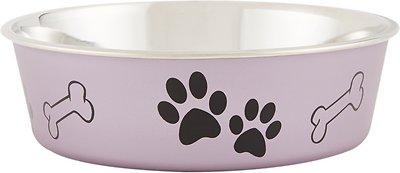 Loving Pets Bella Bowls Pet Bowl, Metallic Grape, Medium
