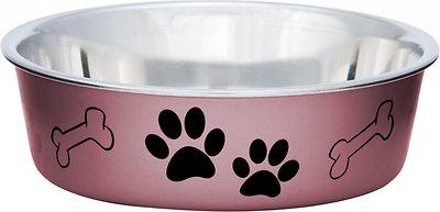 Loving Pets Bella Bowls Pet Bowl, Metallic Grape, Small