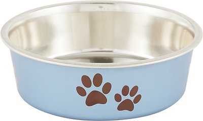 Loving Pets Bella Bowls Pet Bowl, Metallic Blueberry, Small