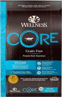 Wellness CORE Grain-Free Ocean Whitefish, Herring & Salmon Recipe Dry Dog Food, 12-lb bag