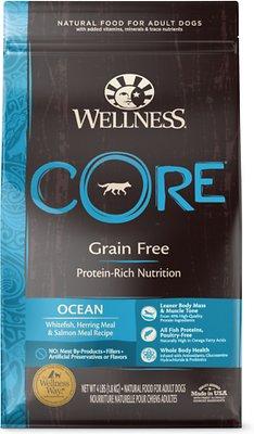 Wellness CORE Grain-Free Ocean Whitefish, Herring & Salmon Dry Dog Food, 4-lb