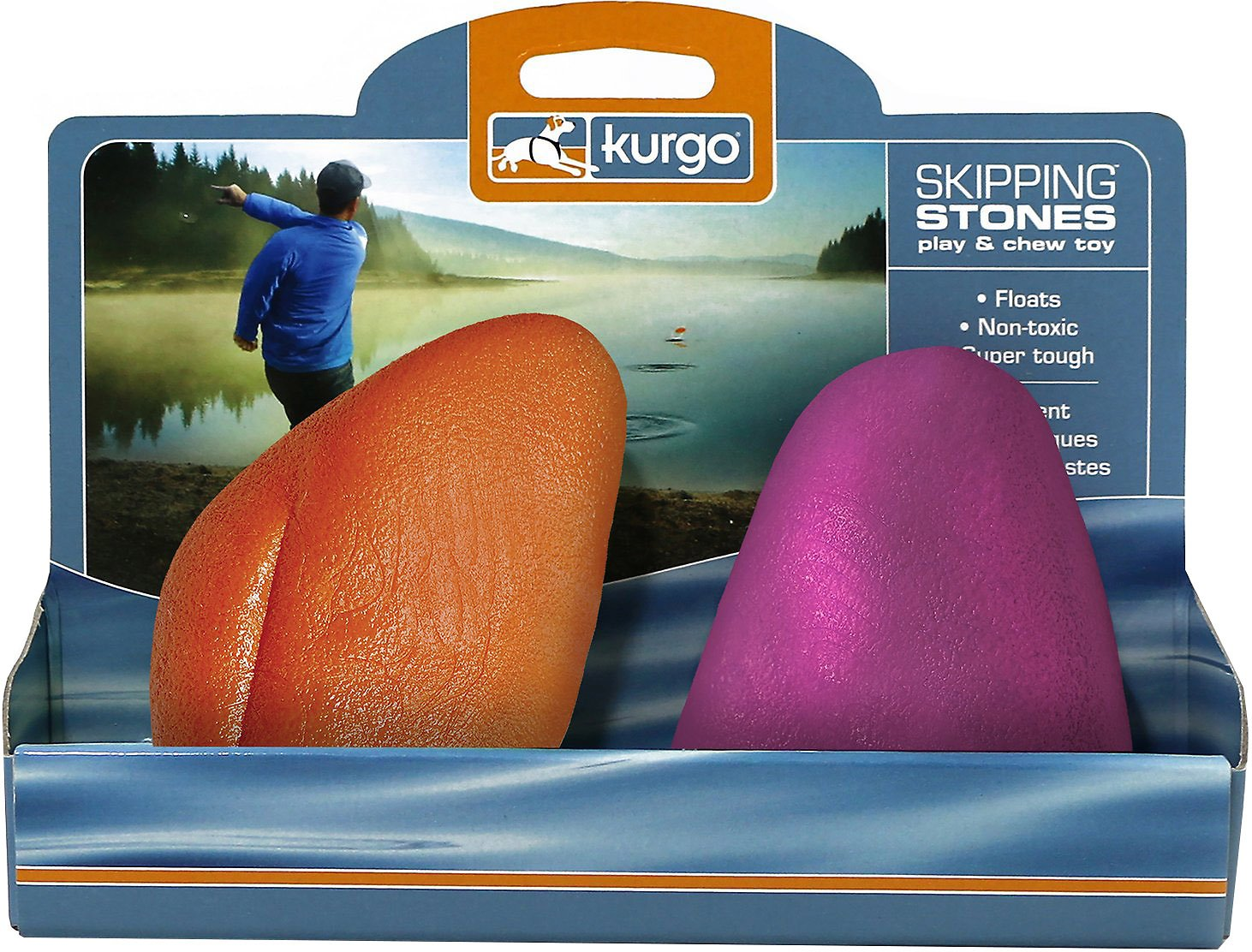 Kurgo Skipping Stones Dog Toy, Color Varies, 2-Pack