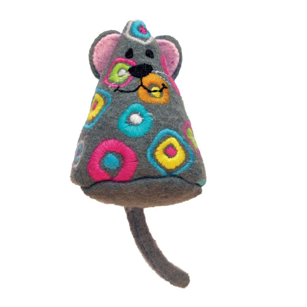 KONG Tropics Mouse Cat Toy, Color Varies