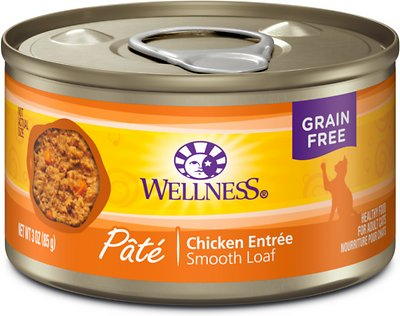 Wellness Complete Health Pate Chicken Entree Grain-Free Canned Cat Food, 3-oz