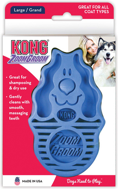 KONG Dog ZoomGroom Multi-Use Brush, Boysenberry