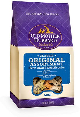 Old Mother Hubbard Classic Original Assortment Biscuits Baked Dog Treats, Mini, 20-oz bag