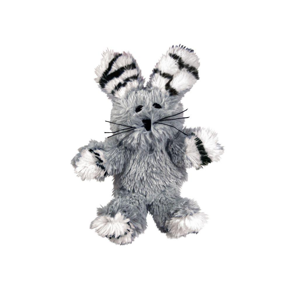 KONG Softies Fuzzy Bunny Cat Toy, Color Varies Image