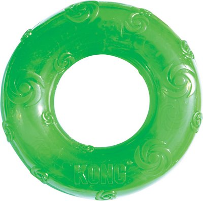 KONG Squeezz Ring Dog Toy, Color Varies, Medium