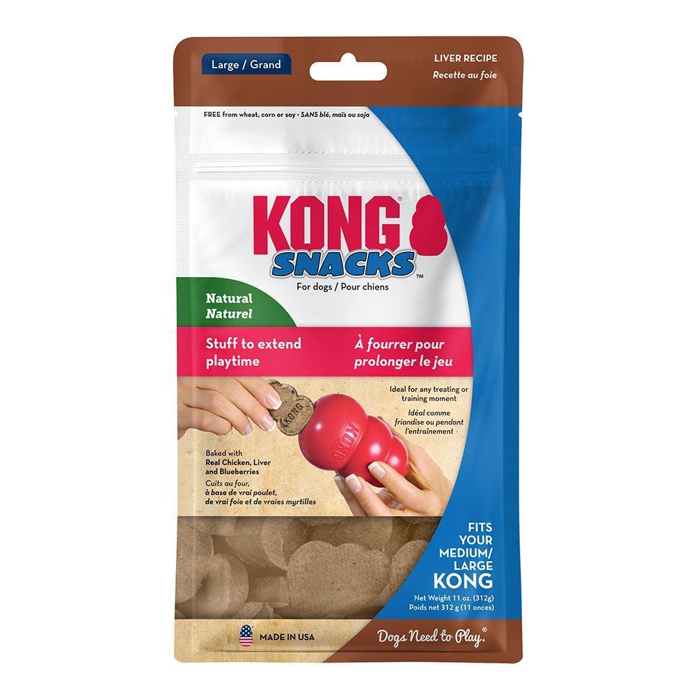 KONG Snacks Liver Dog Treats, Large