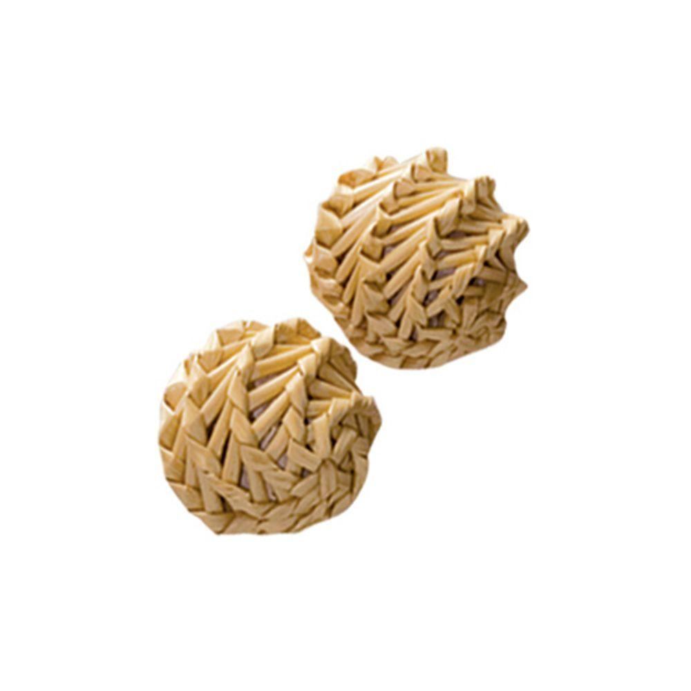 KONG Naturals Straw Ball Cat Toy, 2-pk