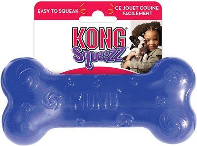 KONG Squeezz Bone Dog Toy, Color Varies, Medium