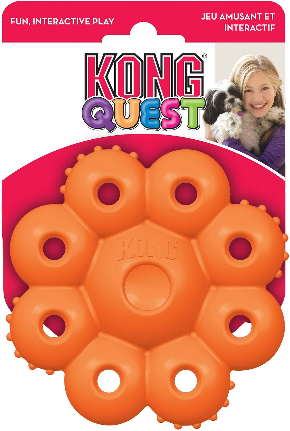 KONG Quest Star Pods Dog Toy, Color Varies Image