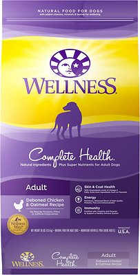 Wellness Complete Health Adult Deboned Chicken & Oatmeal Recipe Dry Dog Food, 30-lb bag