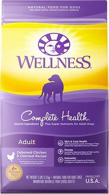 Wellness Complete Health Adult Deboned Chicken & Oatmeal Recipe Dry Dog Food, 5-lb bag